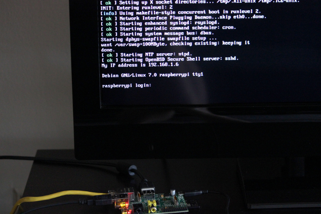 IP address - Raspberry Pi bootscreen
