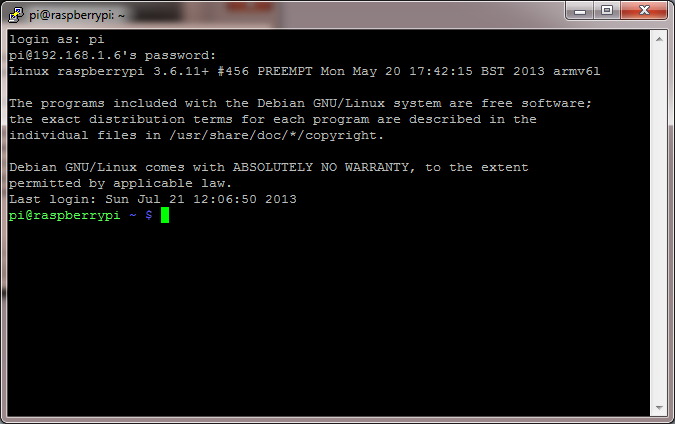 PuTTY - SSH Access to Raspberry Pi