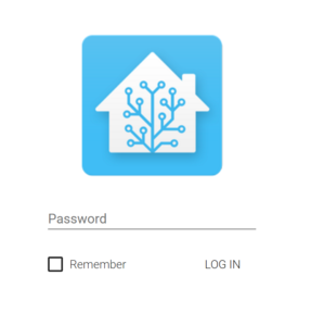 Home Assistant Login Screen
