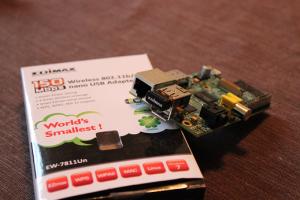 Raspberry Pi with Edimax Wifi Adapter